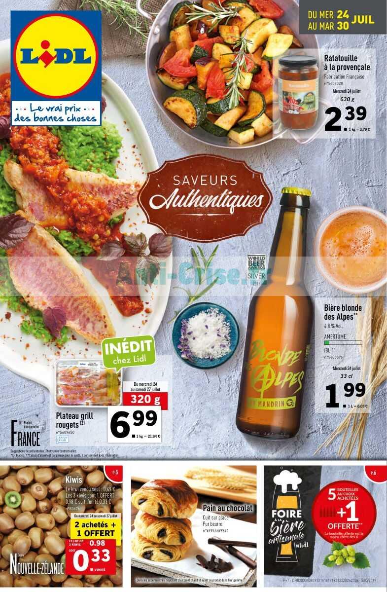 Catalogue Lidl Du 24 Au 30 Juillet 2019 Catalogues Promos