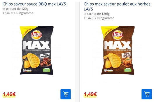 Chips Max Lay's chez Carrefour
