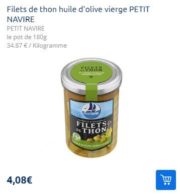 Filets de Thon en Bocal Petit Navire (01/07 – 27/07)