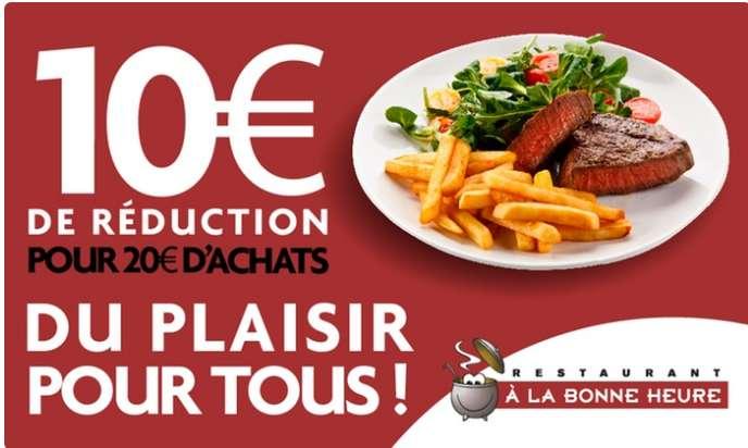 Restaurant à la Bonne Heure : bon de réduction de 10€