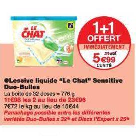 Lessive en Capsules ou Discs Le Chat chez Monoprix (28/08 – 10/09)