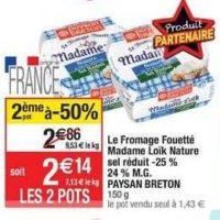 Fromage Fouetté Madame Loïk chez Cora  (27/08 – 02/09)