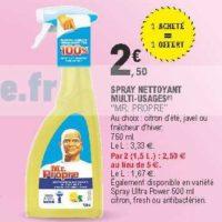 Spray Nettoyant Mr Propre chez Leclerc Pointe Sud-Ouest (13/08 – 24/08)