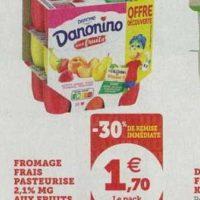 Fromage frais aux fruits Danonino chez Magasins U (13/08 – 24/08)