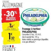 Fromage à tartiner Philadelphia chez Carrefour (20/08 – 26/08)