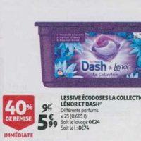 Lessive en capsules Dash chez Auchan (21/08 – 27/08)