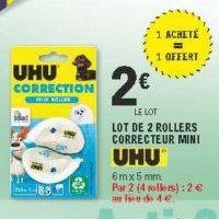 Rollers Correcteurs Uhu chez Leclerc Pointe Sud-Ouest (13/08 – 24/08)