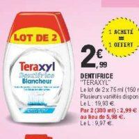 Dentifrice Teraxyl chez Leclerc Pointe Sud-Ouest (13/08 – 24/08)