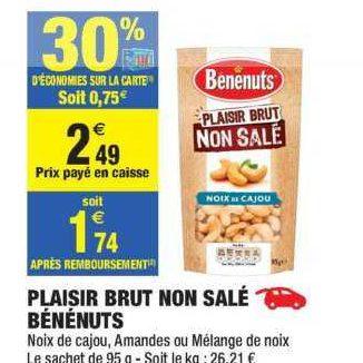 Mélange Apéritif Benenuts chez Carrefour Market (20/08 – 01/09)
