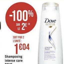 Shampoing Dove chez Géant Casino (13/08 – 25/08)