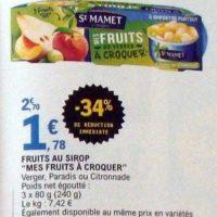 Fruits au Sirop St Mamet chez Leclerc (20/08 – 31/08)