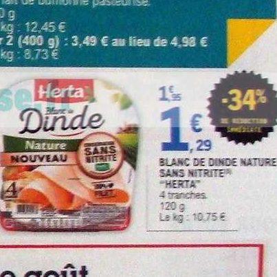 Blanc de Dinde Herta chez Leclerc (20/08 – 31/08)
