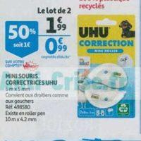 Mini Correcteurs UHU chez Auchan (21/08 – 27/08)