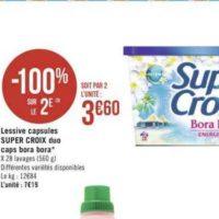 Lessive en capsules Super Croix chez Géant Casino (13/08 – 25/08)
