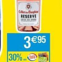 Vin Rosé ou Rouge Cellier des Dauphins chez Cora (20/08 – 26/08)