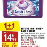 Lessive en Capsules Dash chez Atac (28/08 – 02/09)