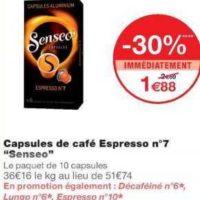 Café en Capsules Senseo chez Monoprix (14/08 – 25/08)