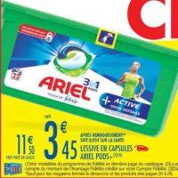 Lessive en Capsules Ariel chez Carrefour Market (20/08 – 01/09)