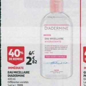 Eau Micellaire Diadermine chez Auchan (21/08 – 27/08)