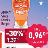 Sauce Chunky Burger Amora chez Aldi (23/08 – 27/08)