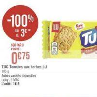 Biscuits Apéritif Tuc chez Géant Casino (13/08 – 25/08)