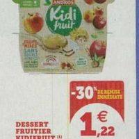 Dessert fruitier Kidi Fruit chez Magasins U (13/08 – 24/08)