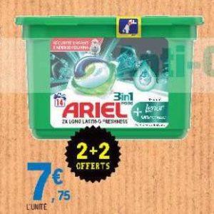Lessive 3en1 Pods+ Ariel chez Leclerc Centre-Ouest (13/08 – 24/08)