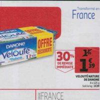 Velouté de Danone chez Auchan (21/08 – 27/08)