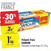 Yaourts Velouté Fruix Danone chez Carrefour (13/08 – 26/08)