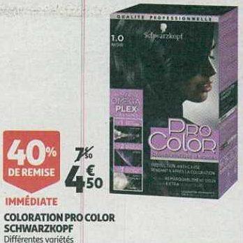 Coloration Pro Color chez Auchan Supermarché (13/08 – 27/08)