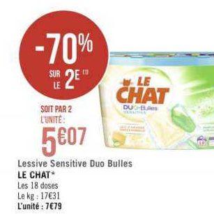 Lessive en capsules Le Chat chez Géant Casino (13/08 – 25/08)