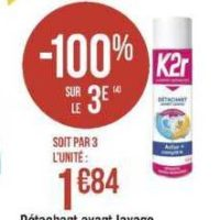 Détachant K2r chez Géant Casino (20/089 – 01/09)