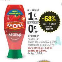 Ketchup Amora chez Leclerc Pointe Sud-Ouest (13/08 – 24/08)