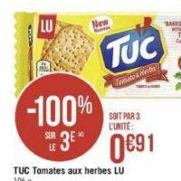 Biscuits Apéritif Tuc chez Casino (13/08 – 25/08)