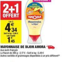 Mayonnaise Amora chez Carrefour Market (20/08 – 01/09)
