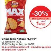 Chips Max Lay's chez Monoprix (14/08 – 25/08)