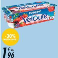 Yaourts Velouté Fruix Danone chez Franprix (21/08 – 01/09)