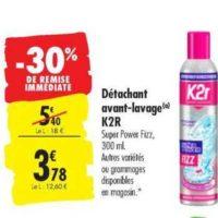 Détachant K2r chez Carrefour (20/08 – 26/08)