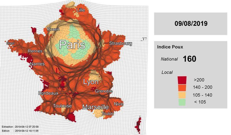 carte invasion poux - anti-crise.fr