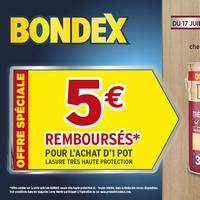Offre de Remboursement Bondex : 5€ Remboursés sur Lasure chez Leroy Merlin