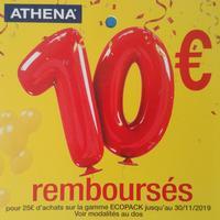 Offre de Remboursement Athena : 10€ Remboursés pour 25€ Gamme Ecopack Homme