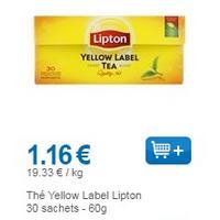 Thé Yellow Label Lipton partout (01/08 – 31/08)