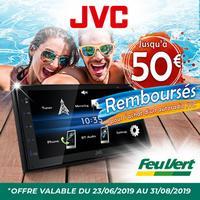 Offre de Remboursement JVC / Feu Vert : Jusqu'à 50€ Remboursés sur Autoradio