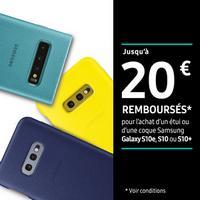 Offre de Remboursement Samsung : Jusqu'à 20€ Remboursés sur Etui ou Coque Galaxy S10e, S10 ou S10+