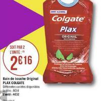 Bain de Bouche Colgate Plax chez Géant Casino (20/08 – 01/09)