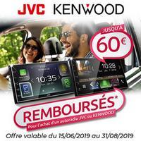Offre de Remboursement JVC / Kenwood : Jusqu'à 60€ Remboursés sur Autoradio