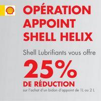 Offre de Remboursement Shell : 25% Remboursés sur Huile Helix