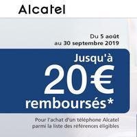 Offre de Remboursement Alcatel : Jusqu'à 20€ Remboursés sur Téléphone