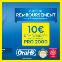 Offre de Remboursement Oral-B : 10€ Remboursés sur BAD Electrique pro 2000S