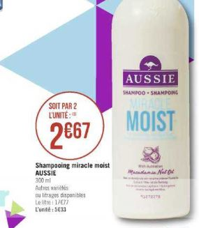 Shampoing Aussie chez Géant Casino (20/08 – 01/09)
